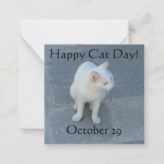 Happy Cat Day! Note Card
