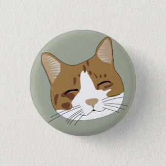 Happy cat draw pinback button