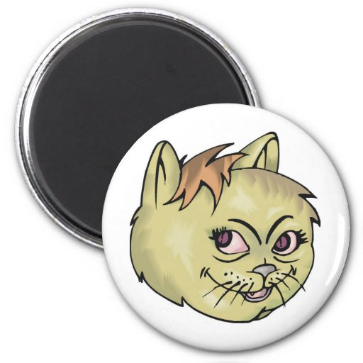 Happy Cat Face Magnets