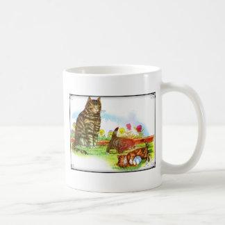 Happy Cat family Artwork Coffee Mug