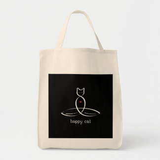 Happy Cat - Fancy style text. Tote Bag