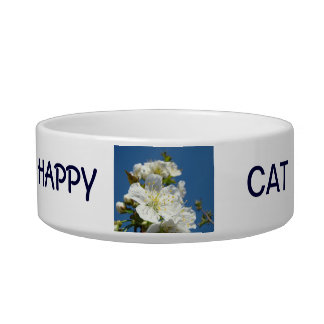 HAPPY CAT food bowl water bowls Cherry Blossoms