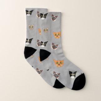 Happy Cat Heads - Pattern Socks
