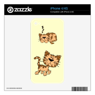 Happy Cat iPhone 4/4s Decal For iPhone 4