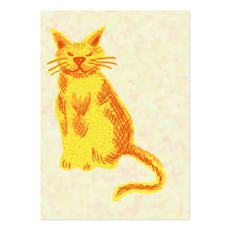 Happy cat large business card
