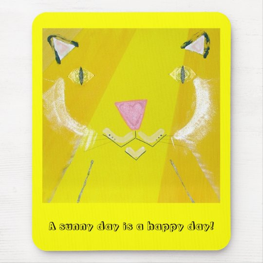 Happy Cat Mouse Pad