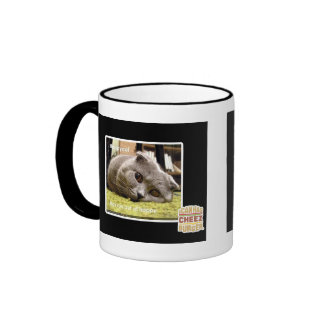 Happy cat, out of happy ringer coffee mug