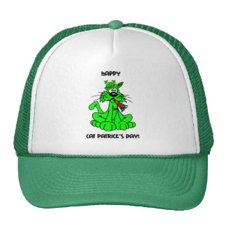 happy cat patrick's day trucker hat