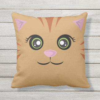 Happy Cat Pillow - Orange Tabby