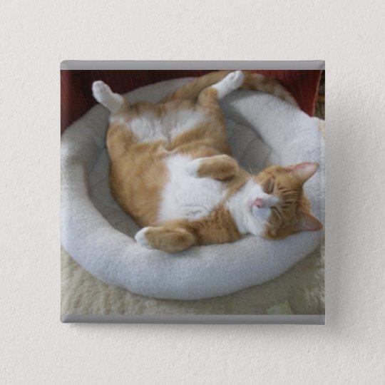 Happy Cat Pinback Button