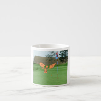 Happy Cat Plays Golf Espresso Cup