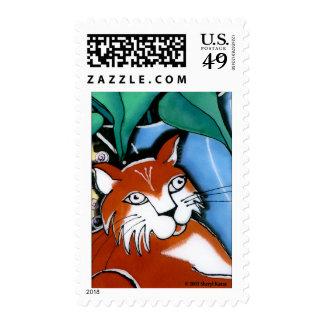 Happy Cat Postage Stamps
