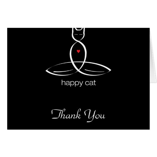 Happy Cat - Regular style text. Card