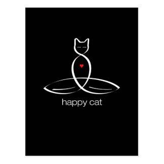 Happy Cat - Regular style text. Postcard