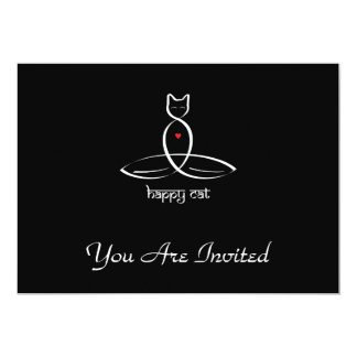 Happy Cat - Sanskrit style text. Card