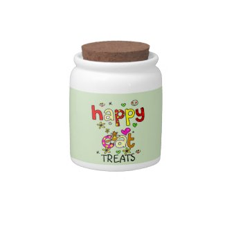 Happy Cat Treats Jar
