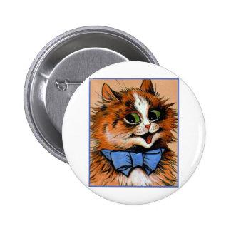 Happy Cat (Vintage Image) 2 Inch Round Button