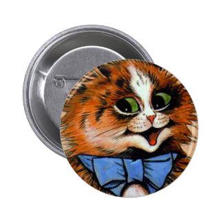 Happy Cat (Vintage Image) Pins