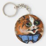 Happy Cat (Vintage Image) Key Chain