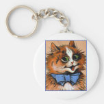 Happy Cat (Vintage Image) Key Chains