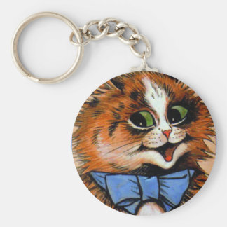 Happy Cat (Vintage Image) Keychain