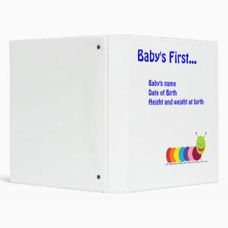 Happy Caterpillar Baby's First (boy) 3 Ring Binder