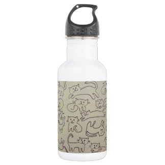 Happy Cats Stainless Steel Water Bottle