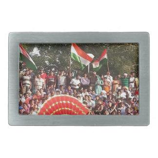 Happy Celebration style of India Belt Buckle