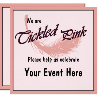 Happy Celebration Tickled Pink Party Invitation