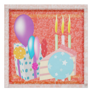 HAPPY Celebrations Cakes Candles Candels Poster