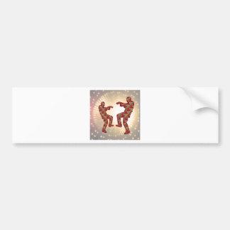 HAPPY CELEBRATIONS Print: ZOMBIE MOON Dance Car Bumper Sticker