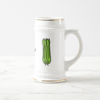 Happy Celery Stalk Bunch Beer Stein