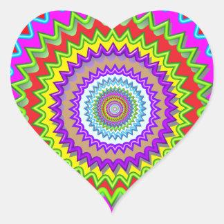 Happy Chakra Art Heart Sticker