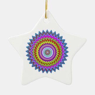 Happy Chakra Art Christmas Tree Ornaments