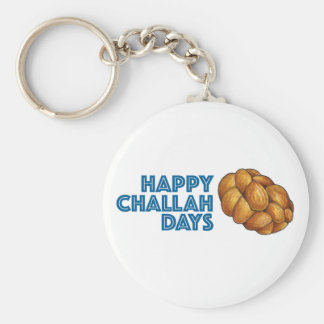 Happy Challah Days Chanukah Hanukkah Gift Keychain