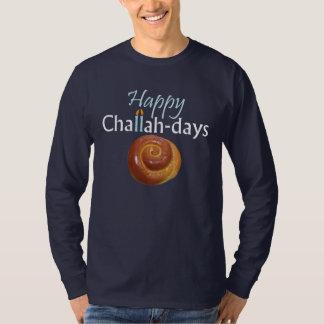 Happy Challah-days Dark Blue T-Shirt