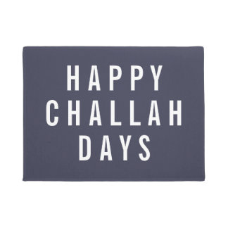 Happy Challah Days | Funny Holiday Chanukah Doormat