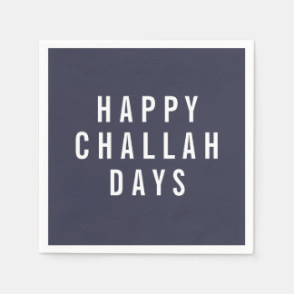 Happy Challah Days | Funny Holiday Hanukkah Paper Napkin