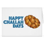 Happy Challah Days Hanukkah Chanukah Card<br><div class='desc'>Holiday card features an original marker illustration of a loaf of braided challah bread,  with HAPPY CHALLAH DAYS in a fun font. Perfect for sending Hanukkah greetings!</div>