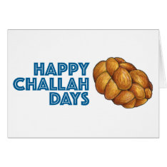 Happy Challah Days Hanukkah Chanukah Card at Zazzle