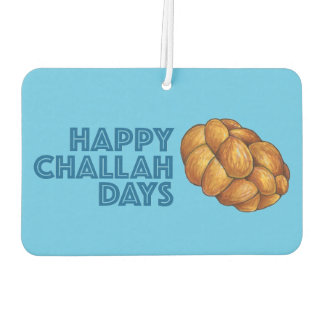 Happy Challah Days Hanukkah Chanukah Holiday Bread Car Air Freshener