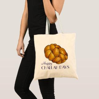 Happy Challah Days Hanukkah Chanukah Holiday Bread Tote Bag