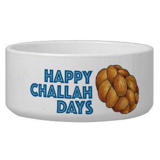 Happy Challah Days Hanukkah Gift Pet Bowl