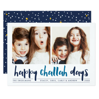 Happy Challah Days | Hanukkah Photo Card
