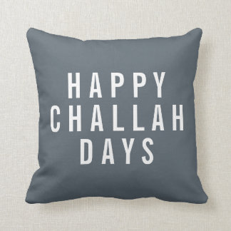 Happy Challah Days Holiday Decor Throw Pillow