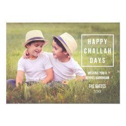 Happy Challah Days | Modern Hanukkah Photo Card