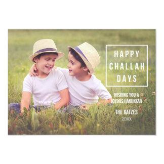 Happy Challah Days   Modern Hanukkah Photo Card