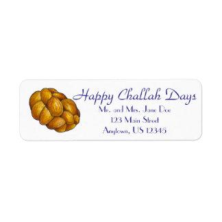 Happy Challah Days Personalized Hanukkah Labels