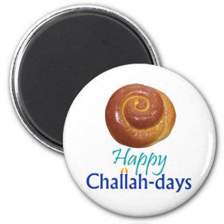 Happy Challah-days Rnd Magnet
