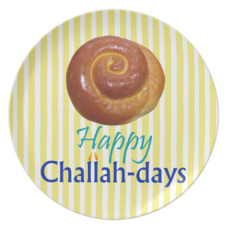 Happy Challah-days Rosh Hashanah Plate
